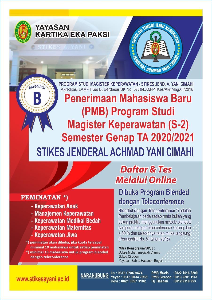 PMB Magister Keperawatan (S-2) Semester Genap TA 2020/2021