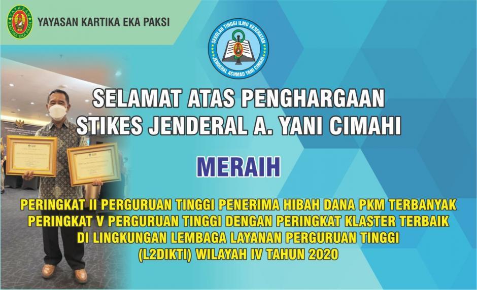 Penghargaan Sikes Jenderal A. Yani Cimahi tahun 2020