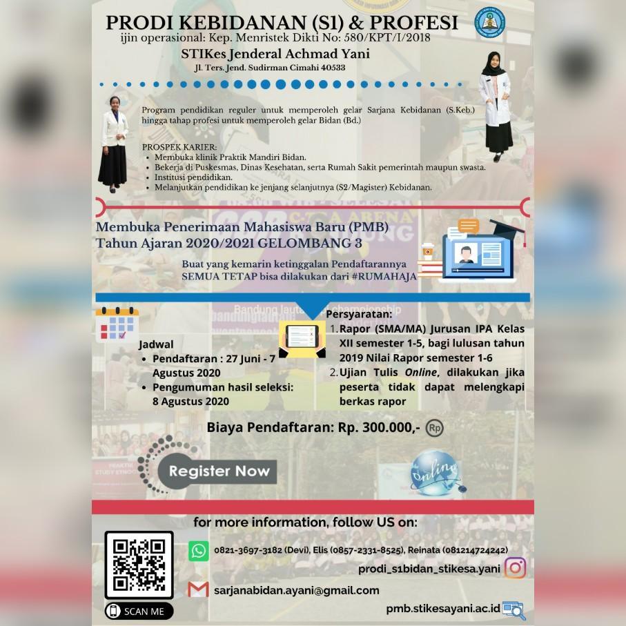 PMB Gelombang III Prodi Kebidanan dan Profesi Bidan (S-1)